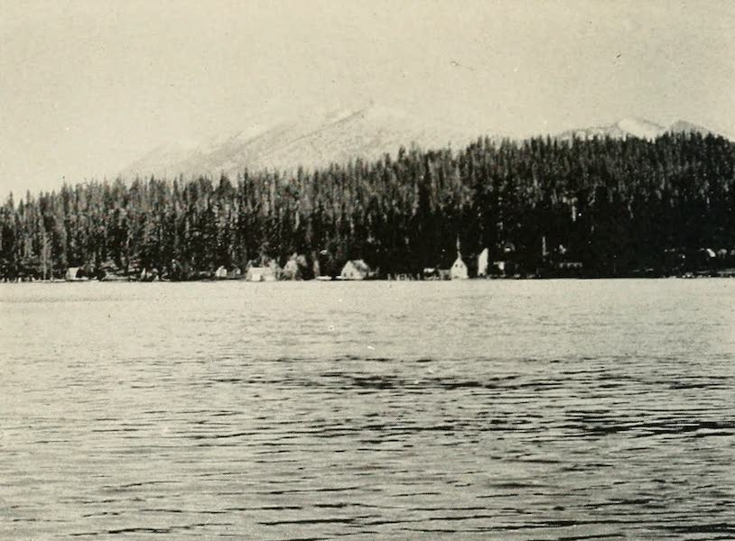 The Lake of the Sky, Lake Tahoe - McKinney's and Moana Villa, With Rubicon Peaks in the Distance, Lake Tahoe (1915)