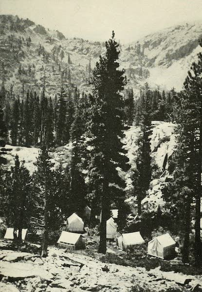 The Lake of the Sky, Lake Tahoe - Cluster of Tents, Glen Alpine Springs (1915)
