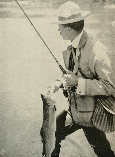 The Lake of the Sky, Lake Tahoe - The Triumphant Angler, Lake Tahoe (1915)