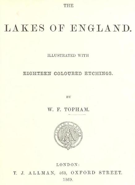The Lakes of England - Title Page (1869)