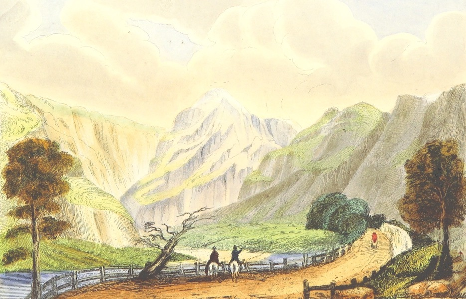The Lakes of England - Borrowdale from near Rosthwaite (1869)