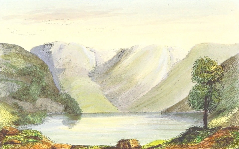 The Lakes of England - Buttermere Lake (1869)
