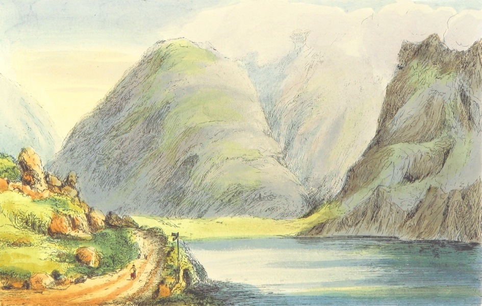 The Lakes of England - Wast Water and Scawfell Pikes from the Road to Calder Bridge (1869)