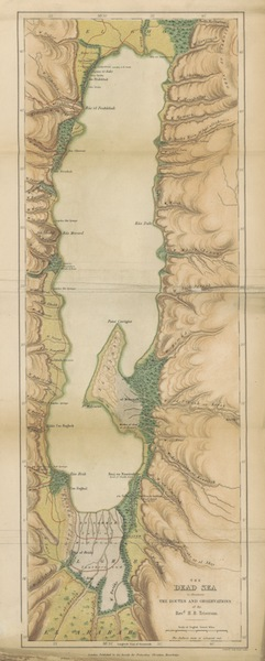 The Land of Israel - The Dead Sea to Illustrate the Routes and Observations of the Rev'd H. B. Tristram (1865)