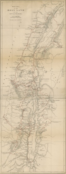The Land of Israel - Routes in the Holy Land by the Rev'd H. B. Tristram (1865)