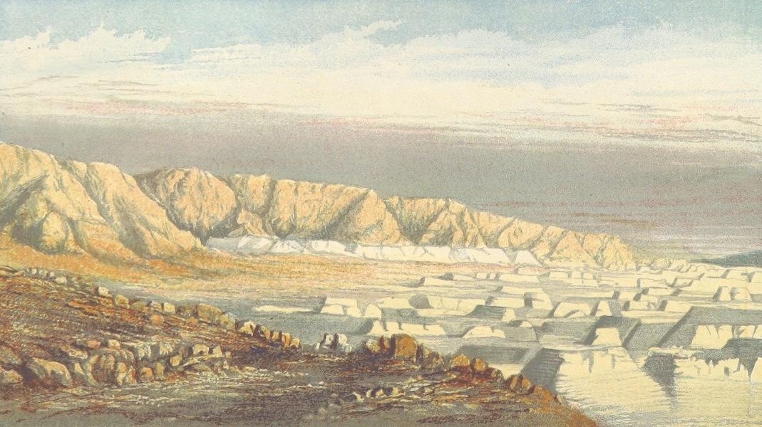 The Land of Israel - Dead Sea Shore under Sebbeh (Masada) (1865)