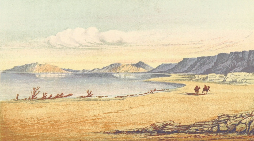 The Land of Israel - Jebel Usdum (The Salt Mountain), South End of the Dead Sea (1865)