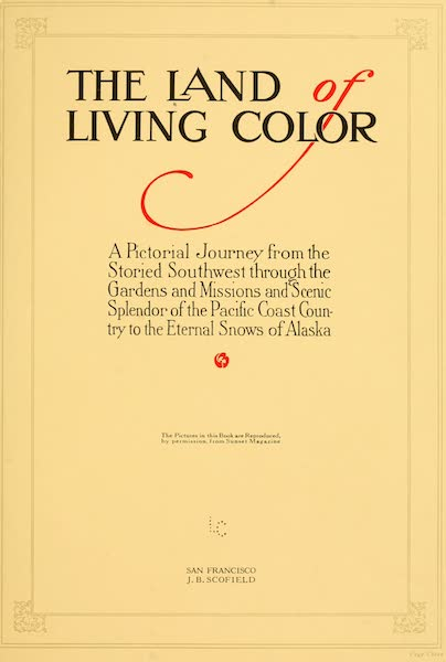 The Land of Living Color - Title Page (1915)