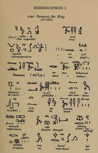 The Land of Midian (Revisited) Vol. 1 - Hieroglyphics I (1879)