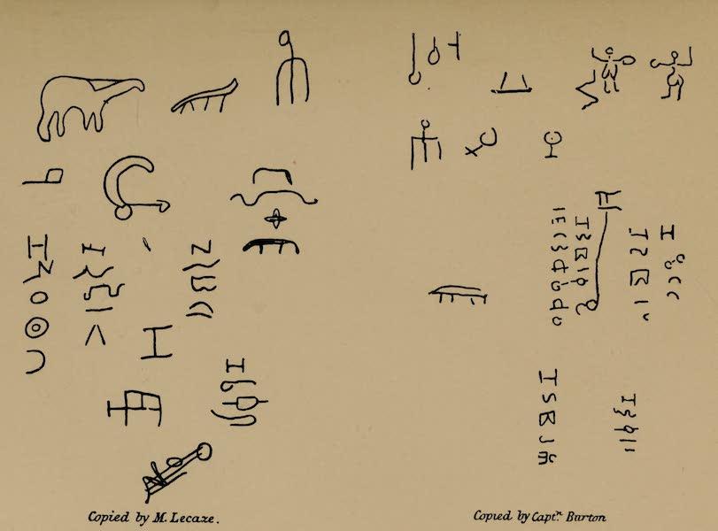 The Land of Midian (Revisited) Vol. 2 - Inscriptions Copied by M. Lecaze and Captn. Burton (1879)