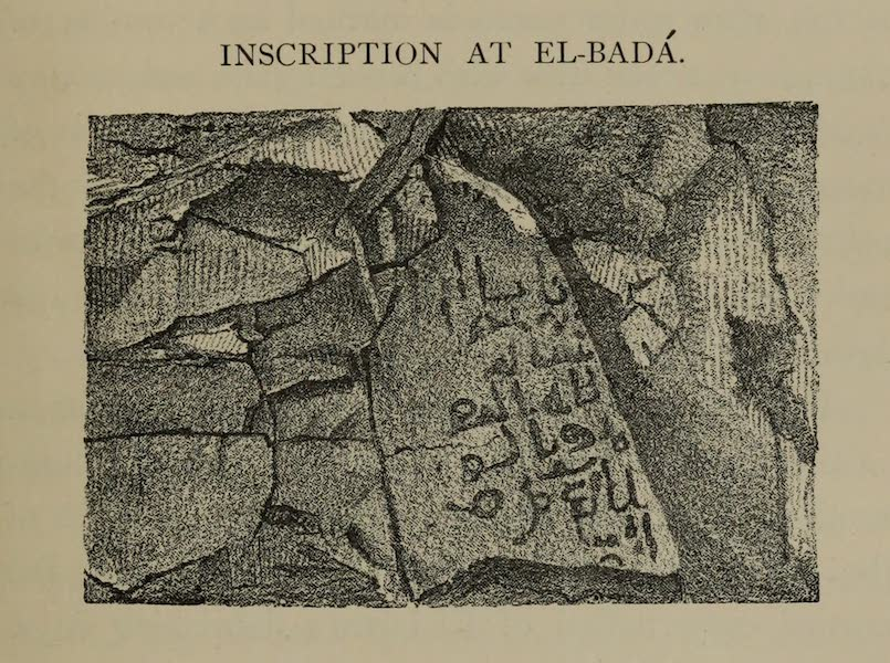 The Land of Midian (Revisited) Vol. 2 - Inscription at El-Bada (1879)