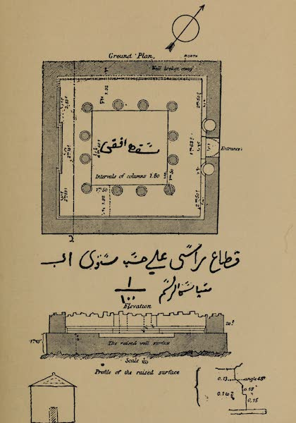 The Land of Midian (Revisited) Vol. 2 - Ground Plan of the Temple, Wady Hamz (1879)