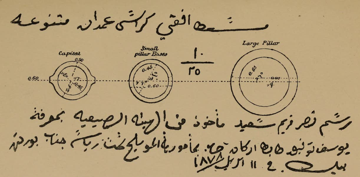 The Land of Midian (Revisited) Vol. 2 - Diameter of the Columns, Wady Hamz (1879)