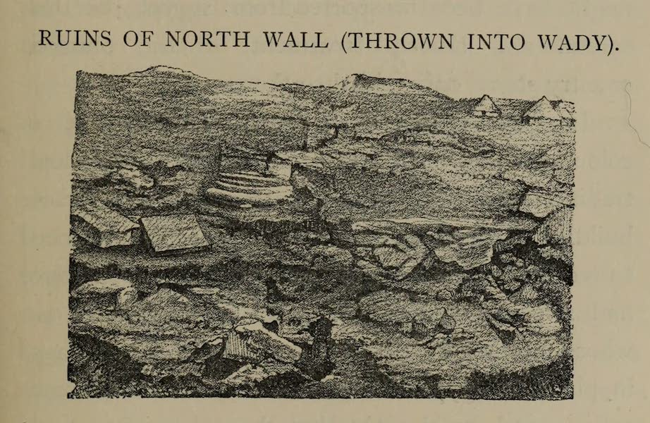 The Land of Midian (Revisited) Vol. 2 - Ruins of the North Wall (Thrown into Wady) (1879)