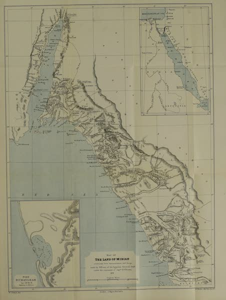 The Land of Midian (Revisited) Vol. 2 - Map of the Land of Midian (1879)