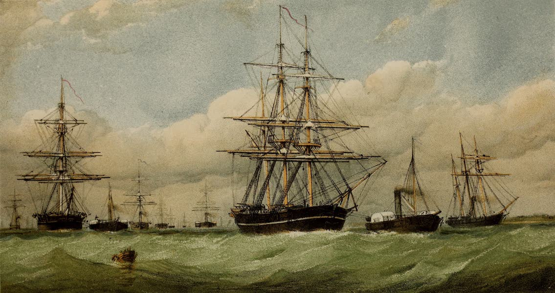 The Last of the Arctic Voyages Vol. 1 - Arctic Squadron Quitting the Nore, April 1852 (1855)