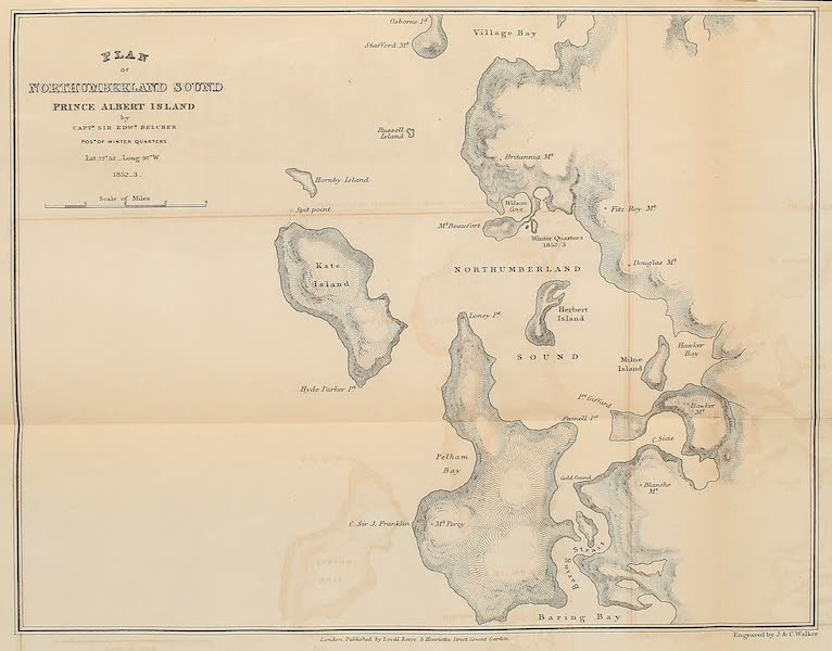 The Last of the Arctic Voyages Vol. 1 - Plan of Northumberland South, Prince Albert Island (1855)