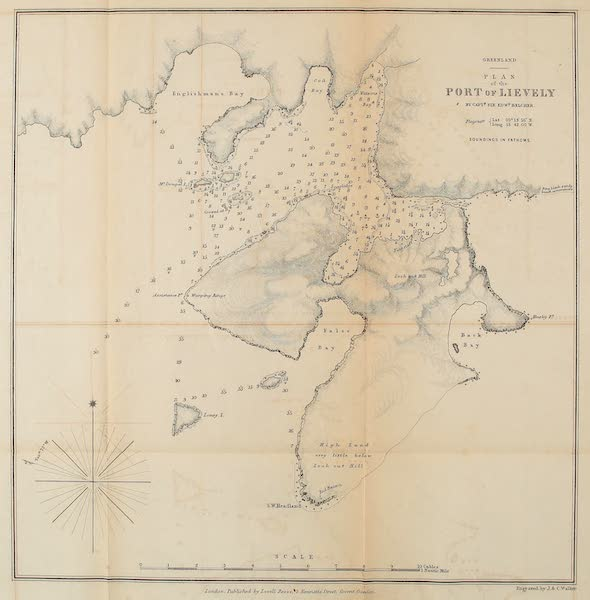The Last of the Arctic Voyages Vol. 1 - Plan of the Port of Lievely, Greenland (1855)