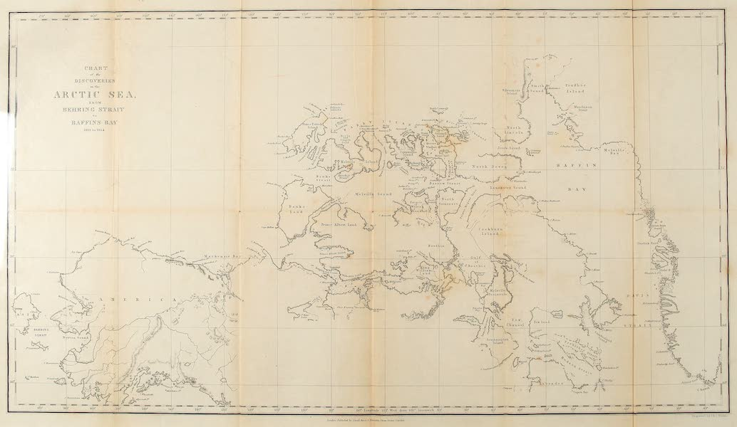 The Last of the Arctic Voyages Vol. 1 - Chart of the Discoveries in the Arctic Sea (1855)