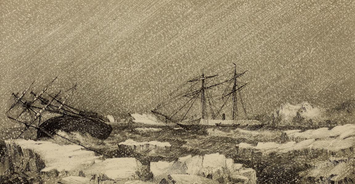 H.M.S Assistance Blown out of Winter Quarters, October 1853
