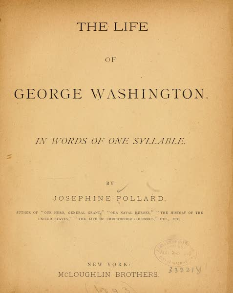 The Life of George Washington - Title Page (1893)
