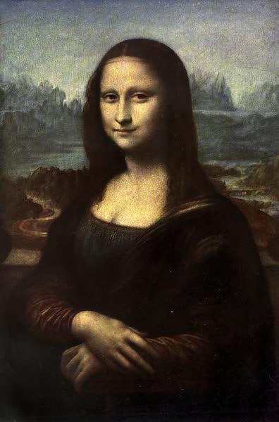The Louvre : Fifty Plates in Colour - Leonardo Da Vinci - Portrait Of Mona Lisa (La Joconde) (1910)