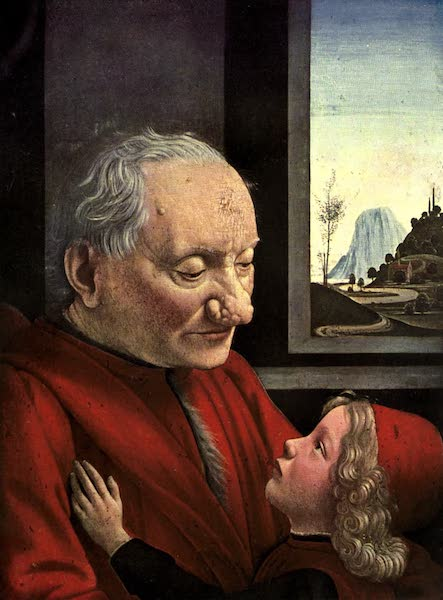 The Louvre : Fifty Plates in Colour - Domenico Ghirlandaio - Portrait Of Ah Old Man And His Grandson (