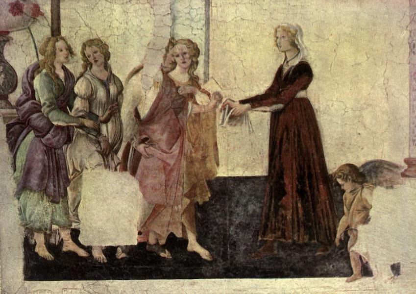The Louvre : Fifty Plates in Colour - Botticelli - Giovanna Degli Albizzi And The Three Graces. (1910)