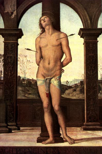 The Louvre : Fifty Plates in Colour - Perugino - St. Sebastian (1910)