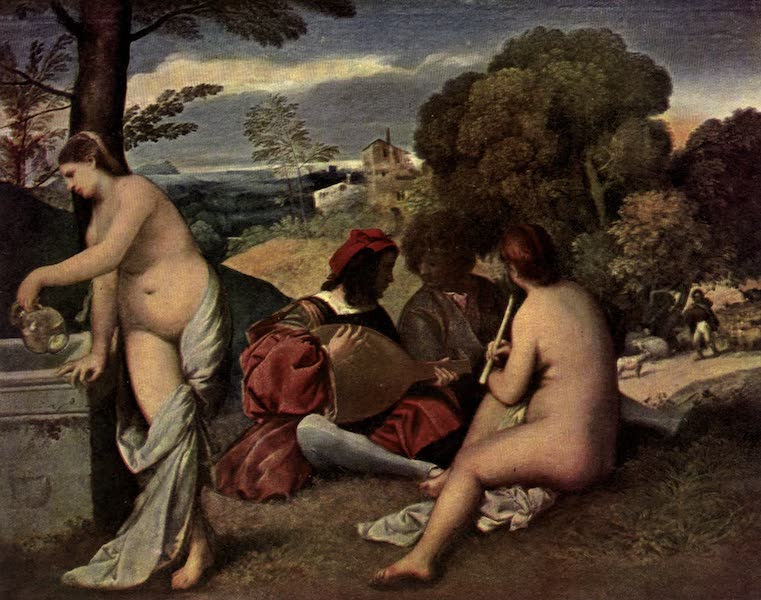 The Louvre : Fifty Plates in Colour - Giorgione - Pastoral Symphony (1910)