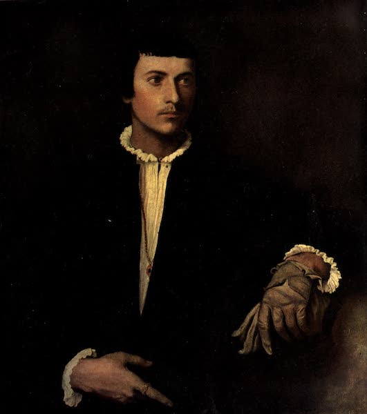 The Louvre : Fifty Plates in Colour - Titian - The Man With A Glove (1910)