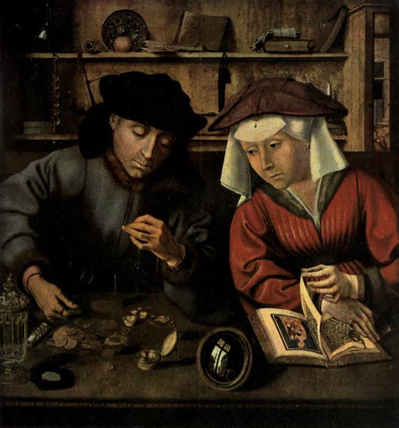 The Louvre : Fifty Plates in Colour - Quentin Matsys - The Banker And His Wife (1910)