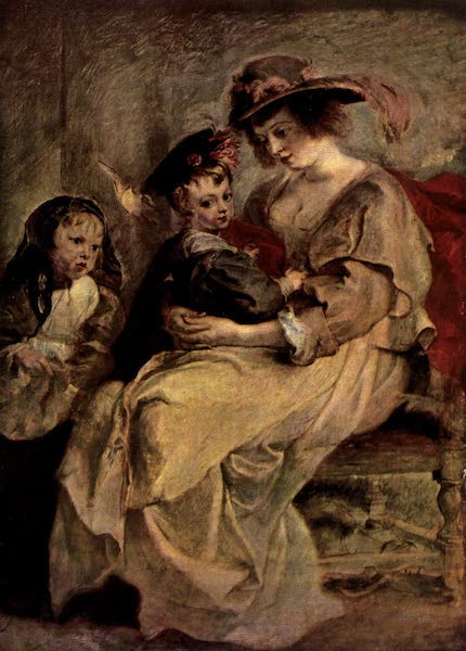 The Louvre : Fifty Plates in Colour - Rubens - Portrait Of Helene Fourment And Two Of Her Children (1910)