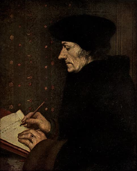 The Louvre : Fifty Plates in Colour - Hans Holbein The Younger - Portrait Of Erasmus (1910)