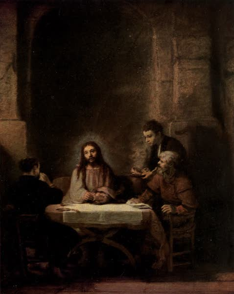 The Louvre : Fifty Plates in Colour - Rembrandt - The Pilgrims At Emmaus (1910)