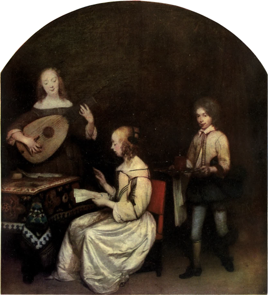 The Louvre : Fifty Plates in Colour - Terborch - The Concert (1910)