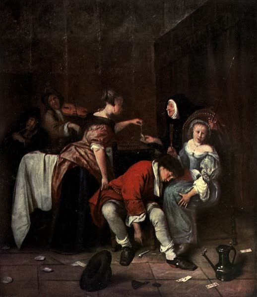 The Louvre : Fifty Plates in Colour - Jan Steen - Bad Company (1910)
