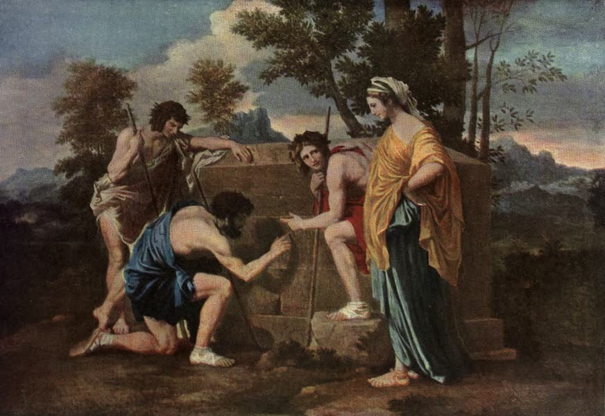 The Louvre : Fifty Plates in Colour - Nicolas Poussin - The Shepherds In Arcadia (1910)
