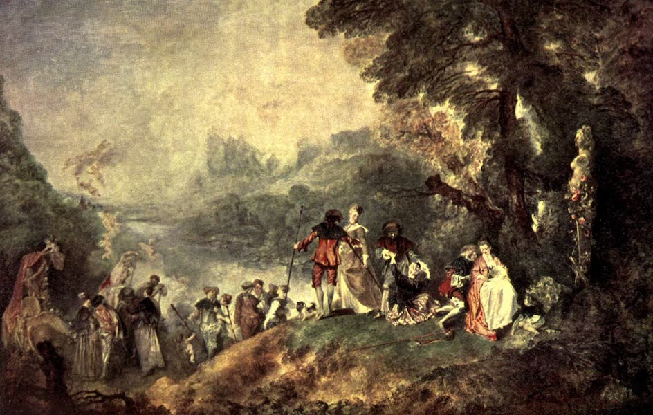 The Louvre : Fifty Plates in Colour - Watteau - The Embarkation For The Island Of Cythera (1910)