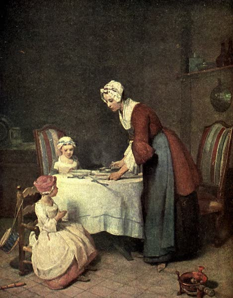 The Louvre : Fifty Plates in Colour - Chardin - Grace Before Meat (1910)