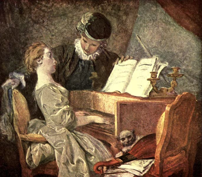 The Louvre : Fifty Plates in Colour - Fragonard - The Music Lesson (1910)