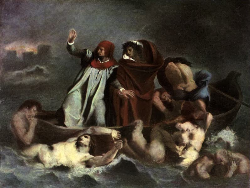 The Louvre : Fifty Plates in Colour - Delacroix - Dante And Virgil (1910)