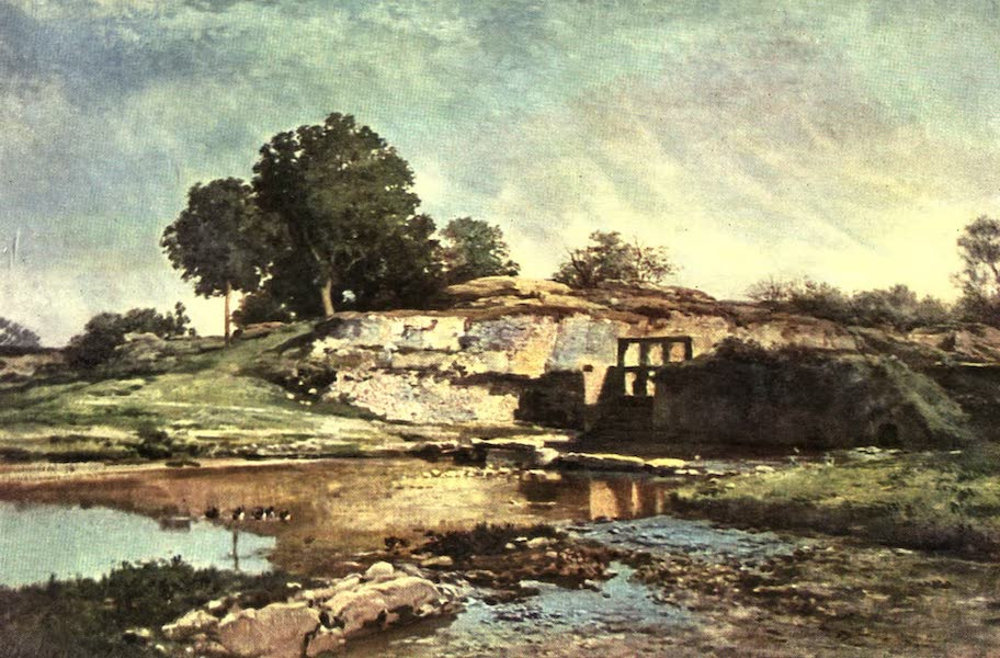 The Louvre : Fifty Plates in Colour - Daubigny - The Weir Gate At Optevoz (1910)