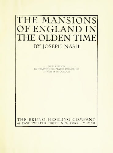 Great Britain - The Mansions of England in the Olden Time