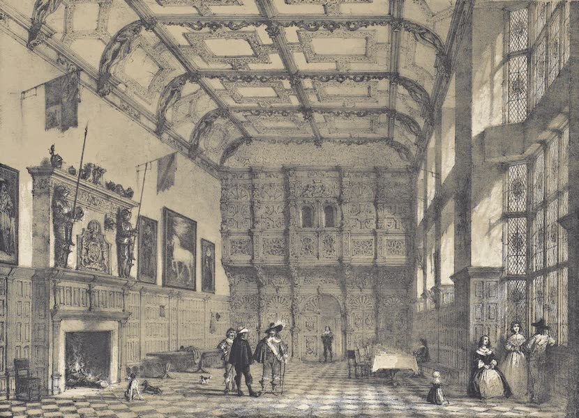 The Mansions of England in the Olden Time Vol. 1 - Hall, Hatfield, Herts (1839)