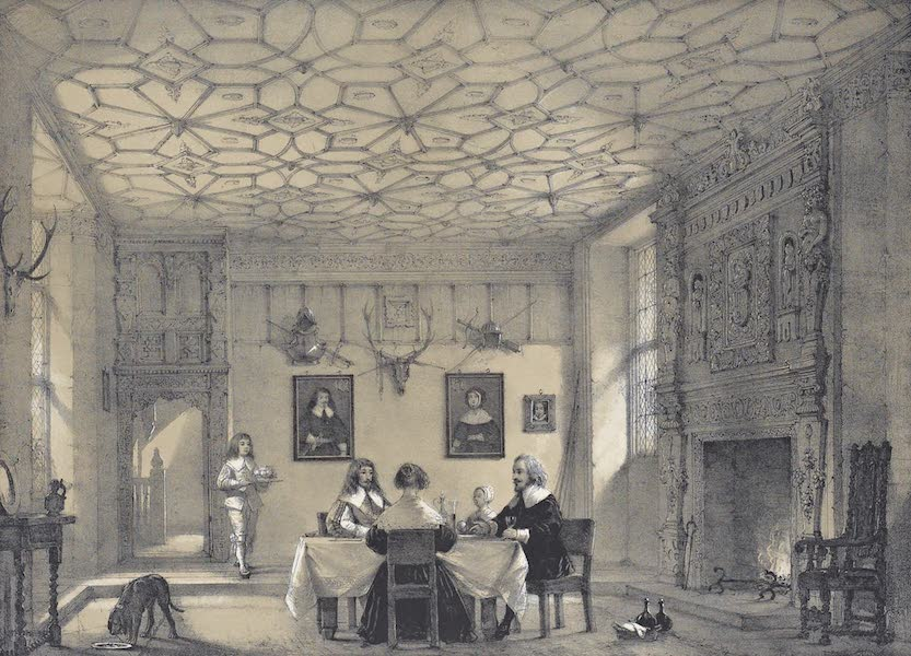 The Mansions of England in the Olden Time Vol. 1 - Hall, Wakehurt, Sussex (1839)
