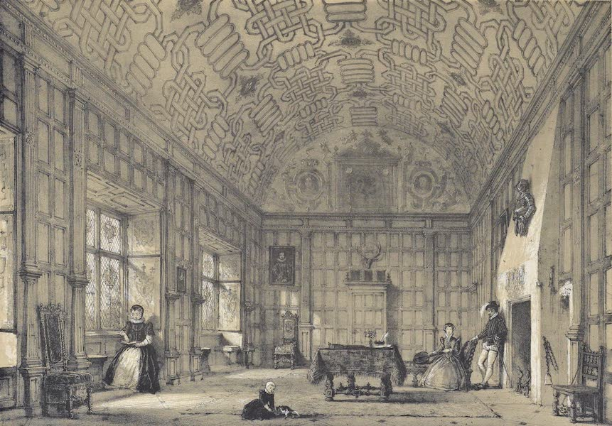 The Mansions of England in the Olden Time Vol. 1 - Drawing Room, Broughton, Malherbe, Kent (1839)