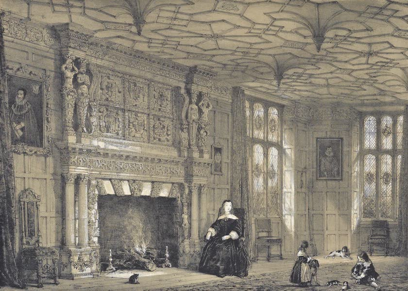 The Mansions of England in the Olden Time Vol. 1 - Drawing Room, Loseley near Guildford, Surrey (1839)