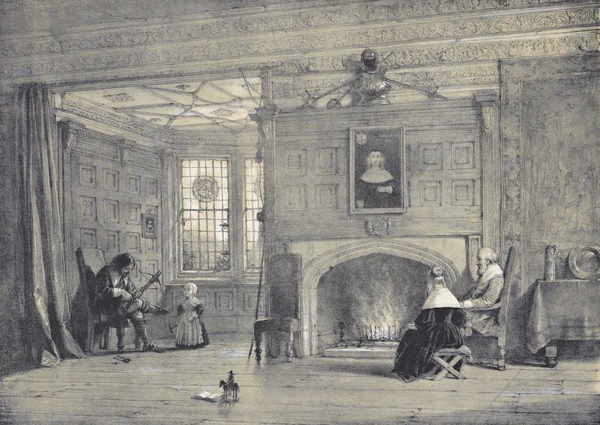 The Mansions of England in the Olden Time Vol. 1 - Drawing Room, Haddon Hall, Derbyshire (1839)