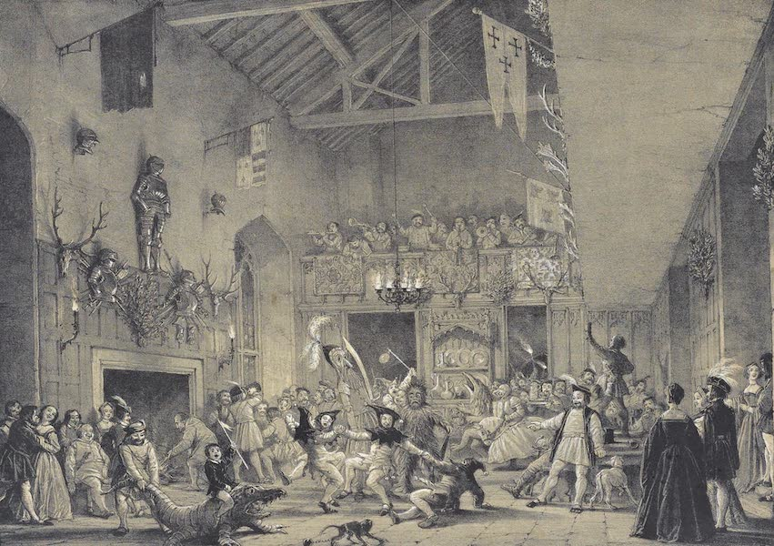 The Mansions of England in the Olden Time Vol. 1 - Banquetting Hall, Haddon, Derbyshire (1839)